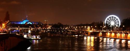 Grand Palais, grande roue et Seine