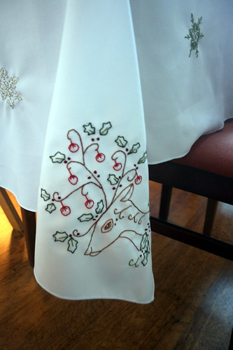 Doodle Stitching Tablecloth