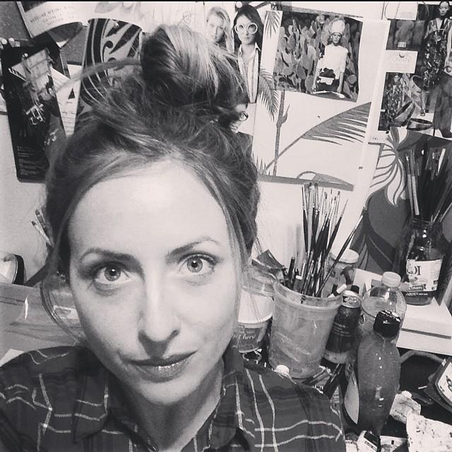 Deep in the studio tonight. #erinfitzpatrickportraits