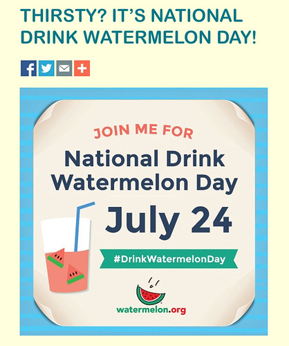 National Drink Watermelon Day poster