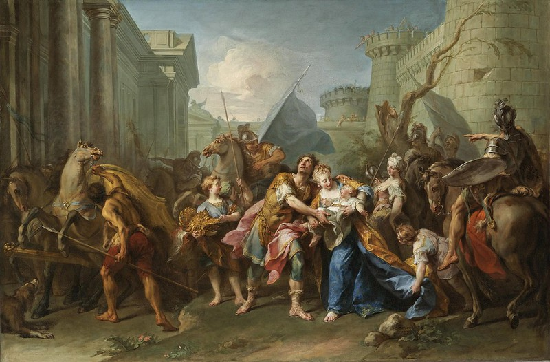Jean II Restout - Hector taking leave of Andromache (1727)