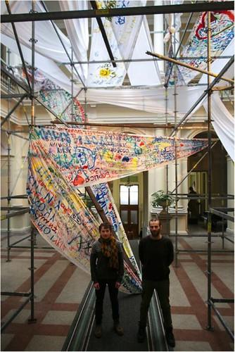 Roman et Volodia, les initiateurs de l'exposition « Zavtra »