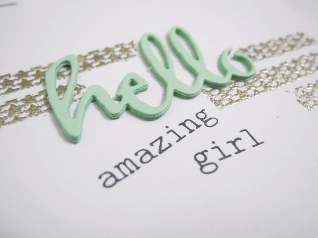 Hello Amazing Girl (detail)