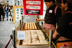 Making Takoyaki in Dotonbori