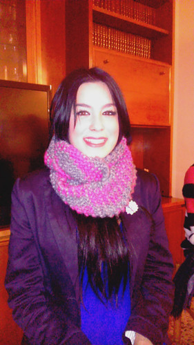 Cristina & her infinity scarf