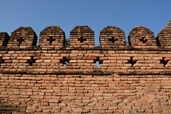 Restored old wall of Chiang Mai (Thailand 2014)