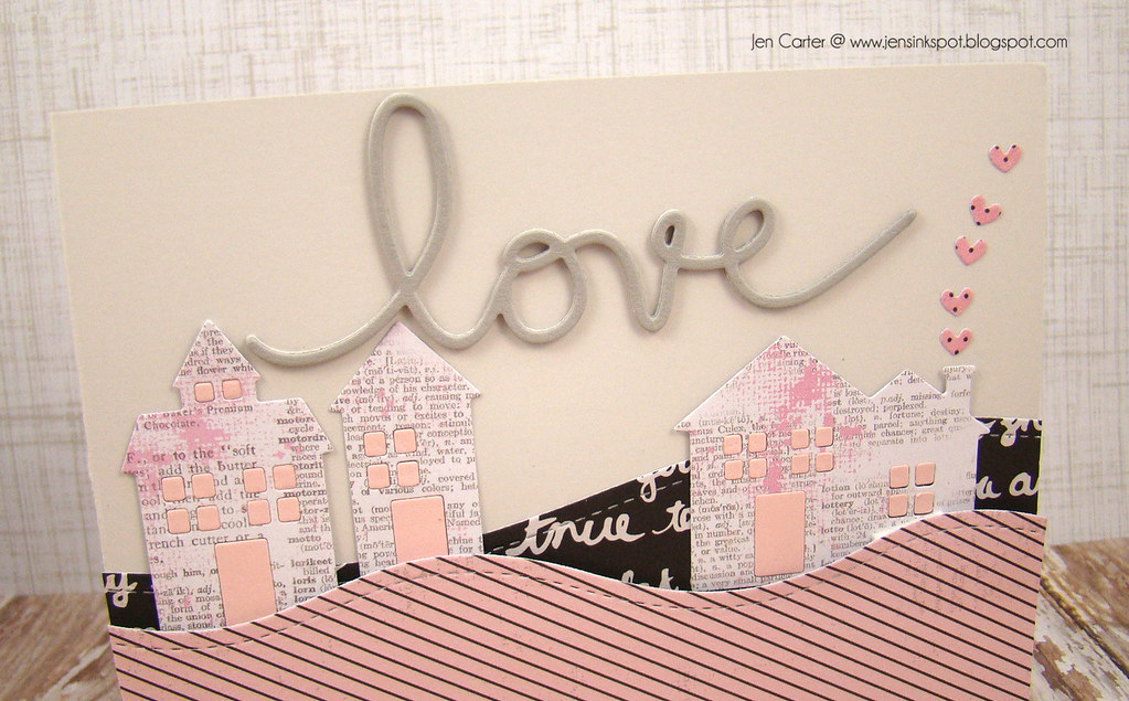 Jen Carter Frantic Stamper Love Houses Closeup