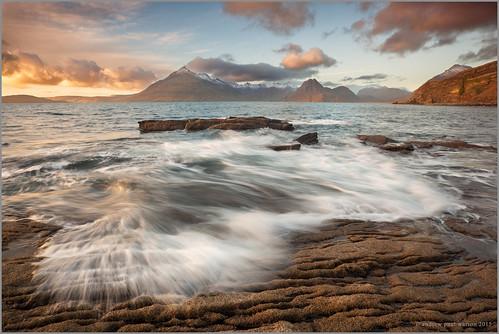 sunset skye beach scotland movement long exposure united scottish kingdom andrew watson mull isle elgol