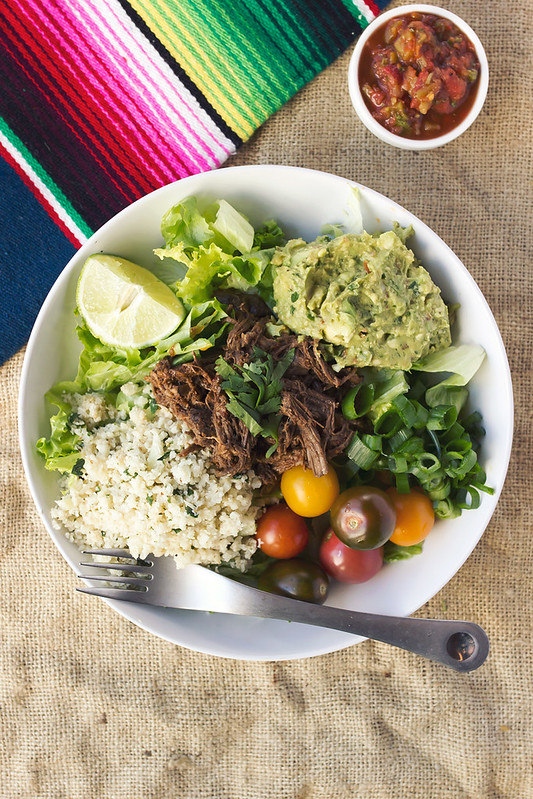 Chipotle Barbacoa Burrito Bowls with Cilantro Lime Cauli-Rice