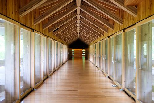 wood bridge japan museum architecture timber structure kochi yusuhara kengokuma