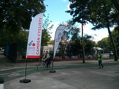 Cyclists arrive