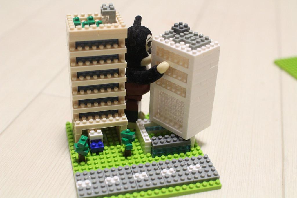 ナノブロック_情景ビルセット組み立て5