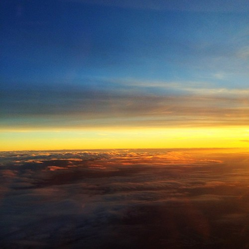 Plane sunset earlier this evening.