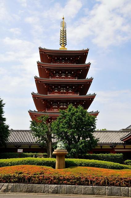 Five story pagoda at Sensoji