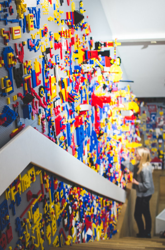 A temporary lego installation at the Stedelijk Museum in Amsterdam is captivating for young visitors.