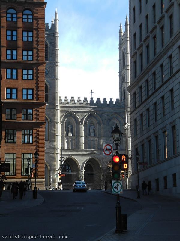 Notre-Dame basilica seen from Cote de la Place d'Armes street 5