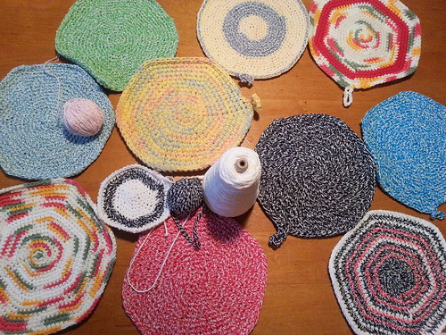 crochet potholders
