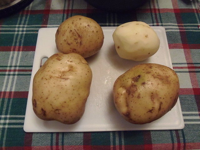 Potatoes for Solstice soup!