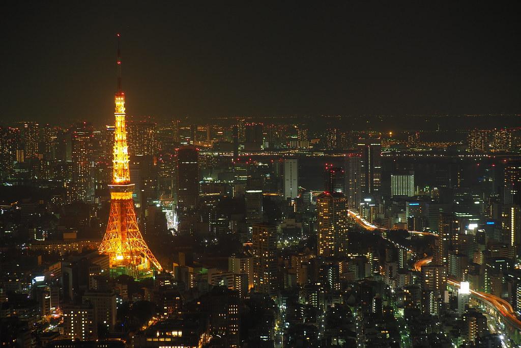東京 六本木 森大樓 夜景