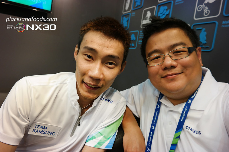 Samsung Incheon Games Lee Chong Wei selfie