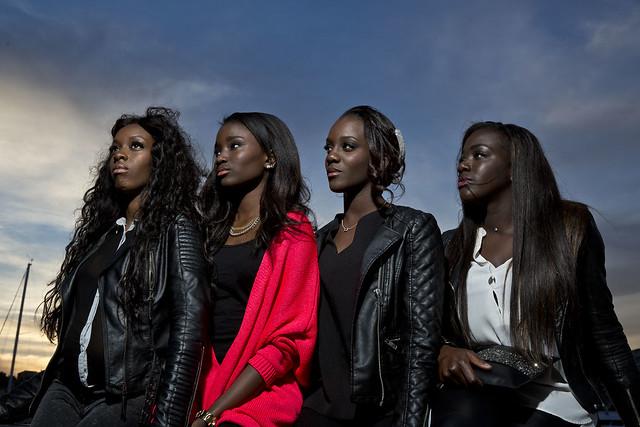 Bande de Filles de gauche à droite Marietou Toure/ Karidja Toure/ Assa Sylla/Lindsay Karamoh