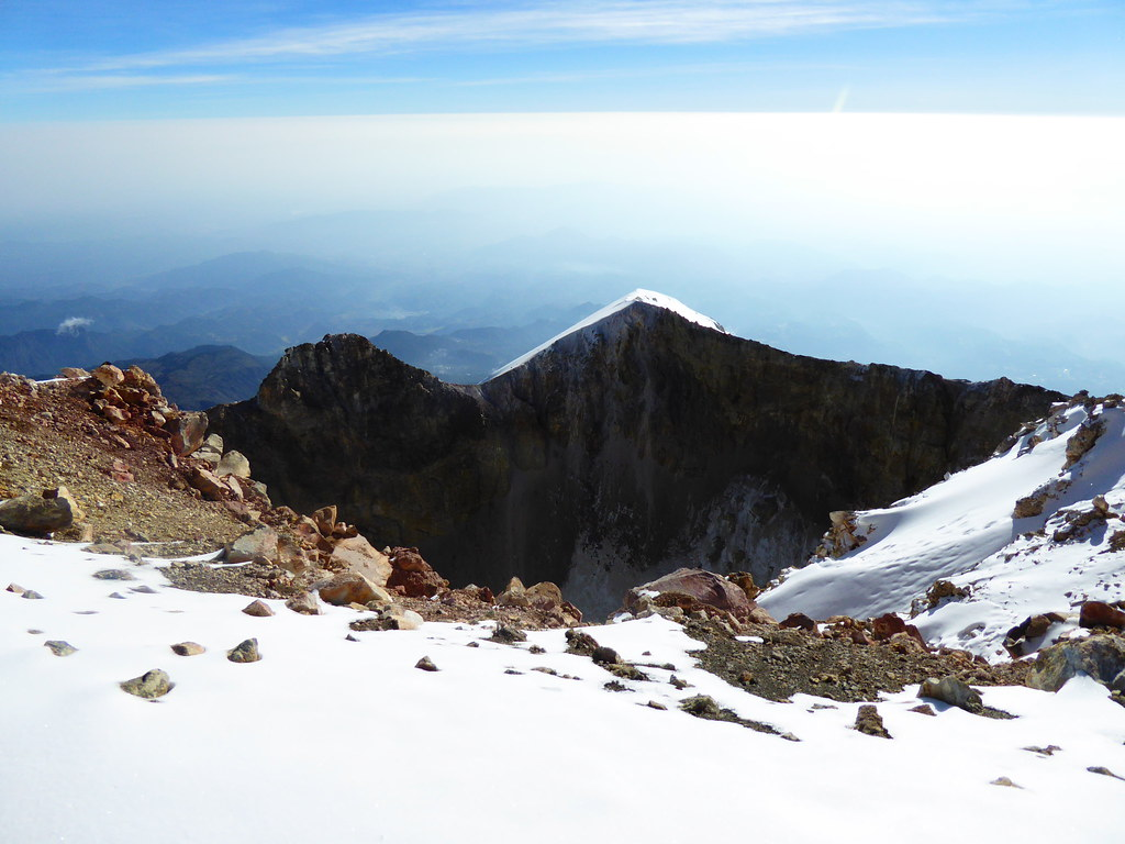 First glimpse of the crater on Pico de Orizaba