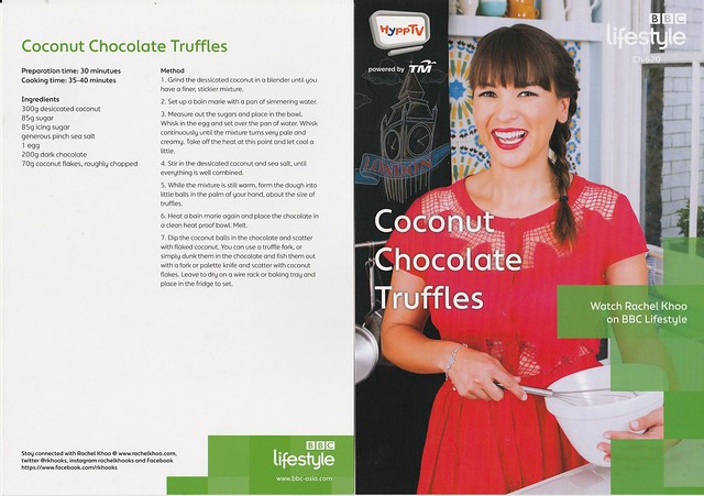 Rachel Choo Coconut Chocolate TRuffles Recipe