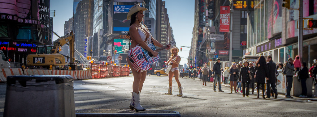 Naked cowboy-cowgirl