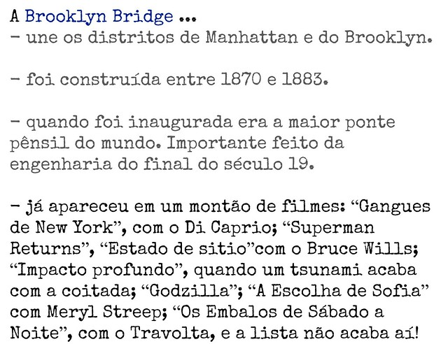 curiosidades Brooklyn Bridge