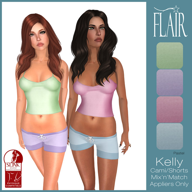 Flair - Kelly Cami Shorts set - Pastel
