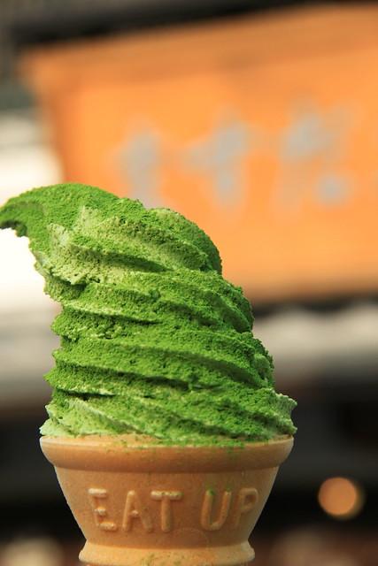 正宗宇治抹茶霜淇淋