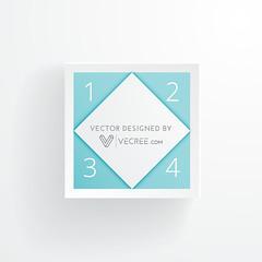 cleans 3d style square design