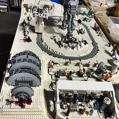 Christmas on Hoth. New Star Wars display in Brickmania train room
