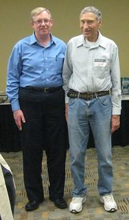 Wayne Homren and Dave Hirt at Kolbe-Fanning lot viewing Baltimore 2014