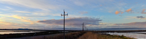 california morning blue color nature northerncalifornia sunrise bay nikon december earth shoreline large panoramic powerlines bayarea eastbay hayward stitched alamedacounty d800 2014
