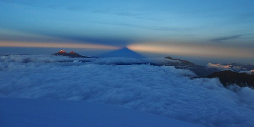 Cotopaxi Shadow and Ilinizas at Sunrise