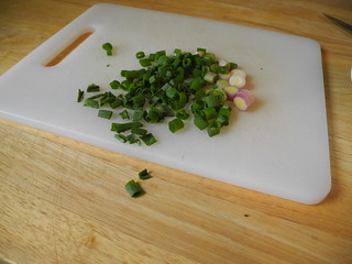 Sliced scallion
