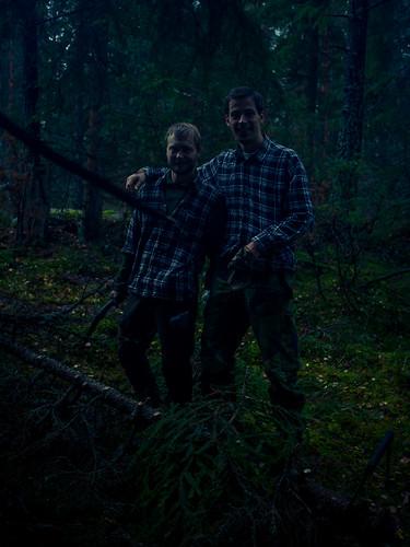 Glada skogsarbetare