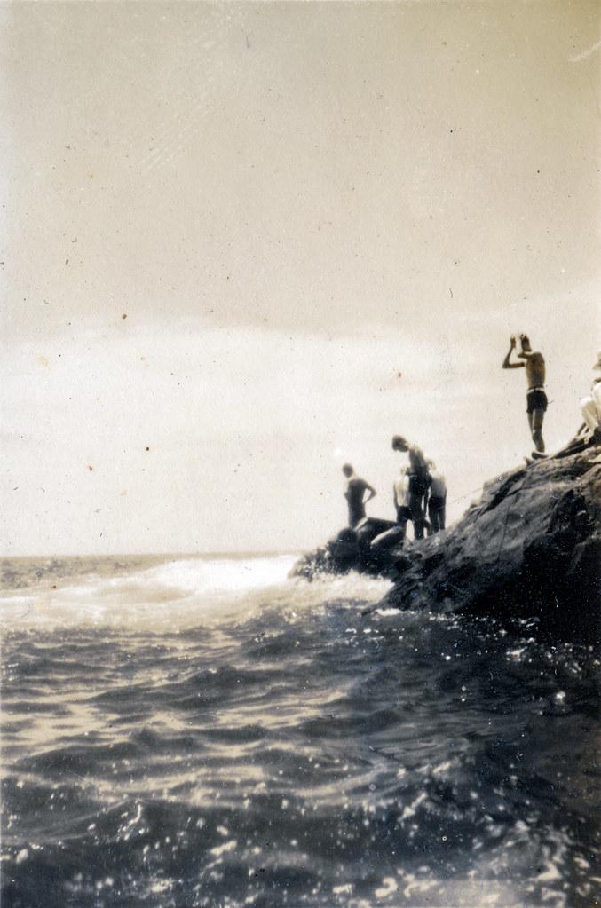 Enoshima Japan Rocky Shore, 1938
