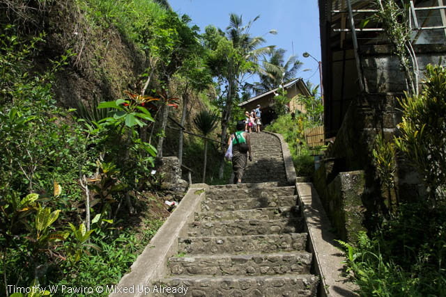 Indonesia - Bali - Candi Gunung Kawi - Going upstairs