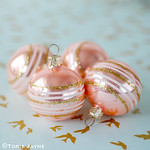 Vintage peach baubles