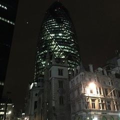 Gherkin at night #londonlandscapes#latergram