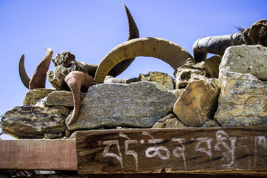 Священные рога над воротами в дом. © Kartzon Dream - авторские путешествия, авторские туры в Индию, тревел фото, тревел видео, фототуры