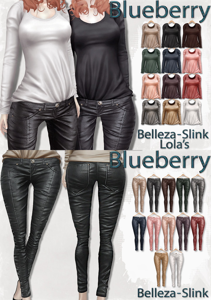 Blueberry New Releases - Leather Pants & Tucked in Shirts.