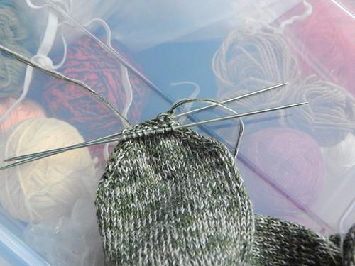 мысок перед сшиванием