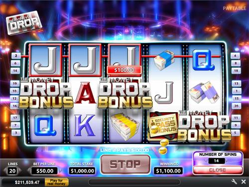 free The Money Drop bonus game