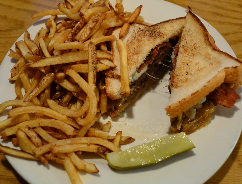 Patty Melt with Fries