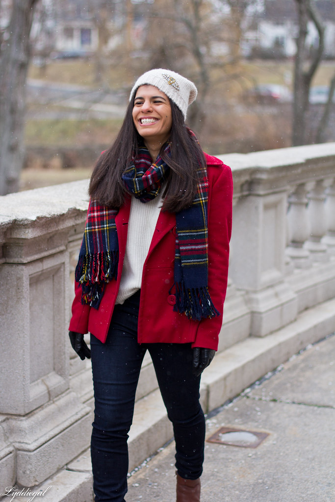 white sweater, red coat, plaid scarf-5.jpg