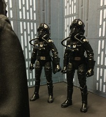 chevy2who has added a photo to the pool:Six inch Star Wars Black Series Tie Fighter Pilots. I know in the movie you only get to see the back of these guys, but I wanted to show the front of them.