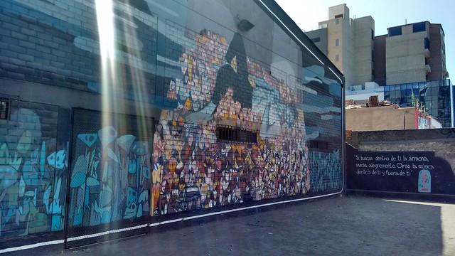Mural on Av. Ejercito, Miraflores, Peru